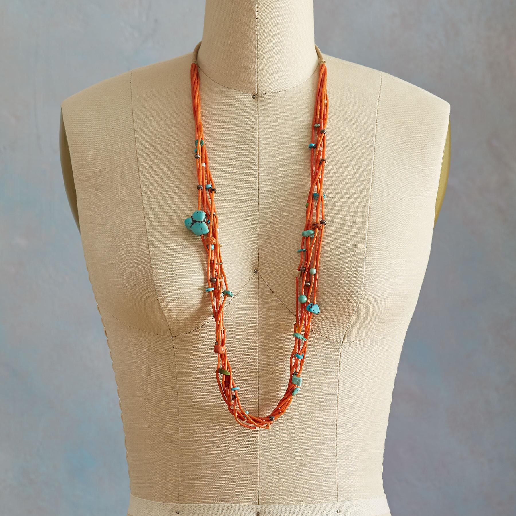 1950S CORAL & TURQUOISE NECKLACE: View 3