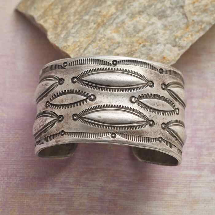 FLOATING CLOUDS STAMPED CUFF
