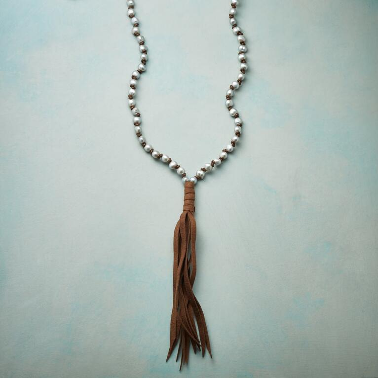 PEARL DREAMS TASSEL NECKLACE