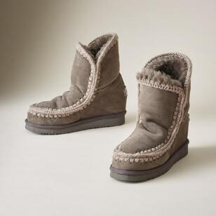 ESKIMO WEDGE SHORT BOOTS
