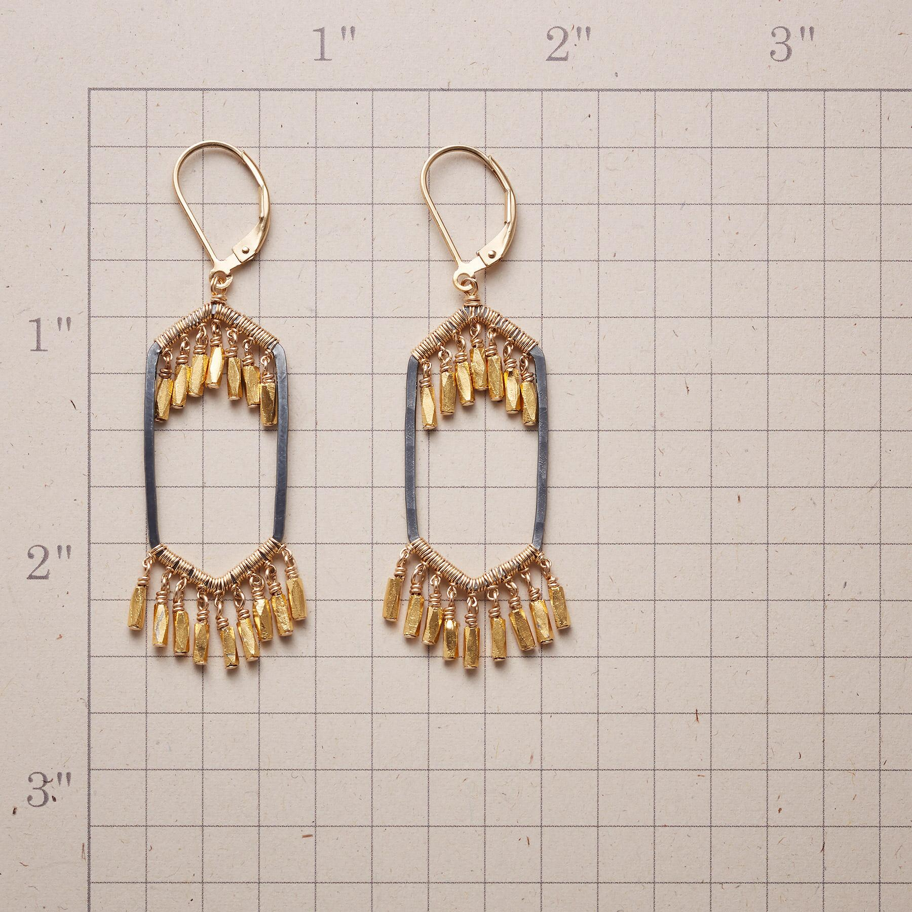HEXAGON CASCADE EARRINGS: View 2