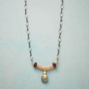 SAFFRON & STONE NECKLACE