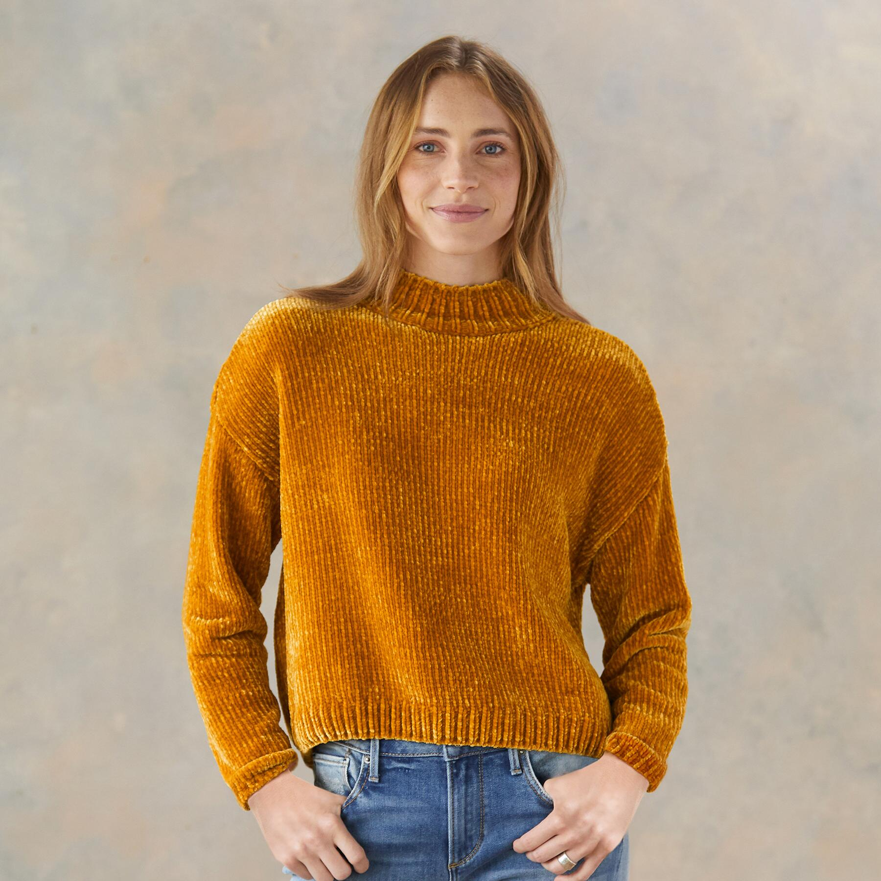 CHENILLE MOCK SWEATER: View 1