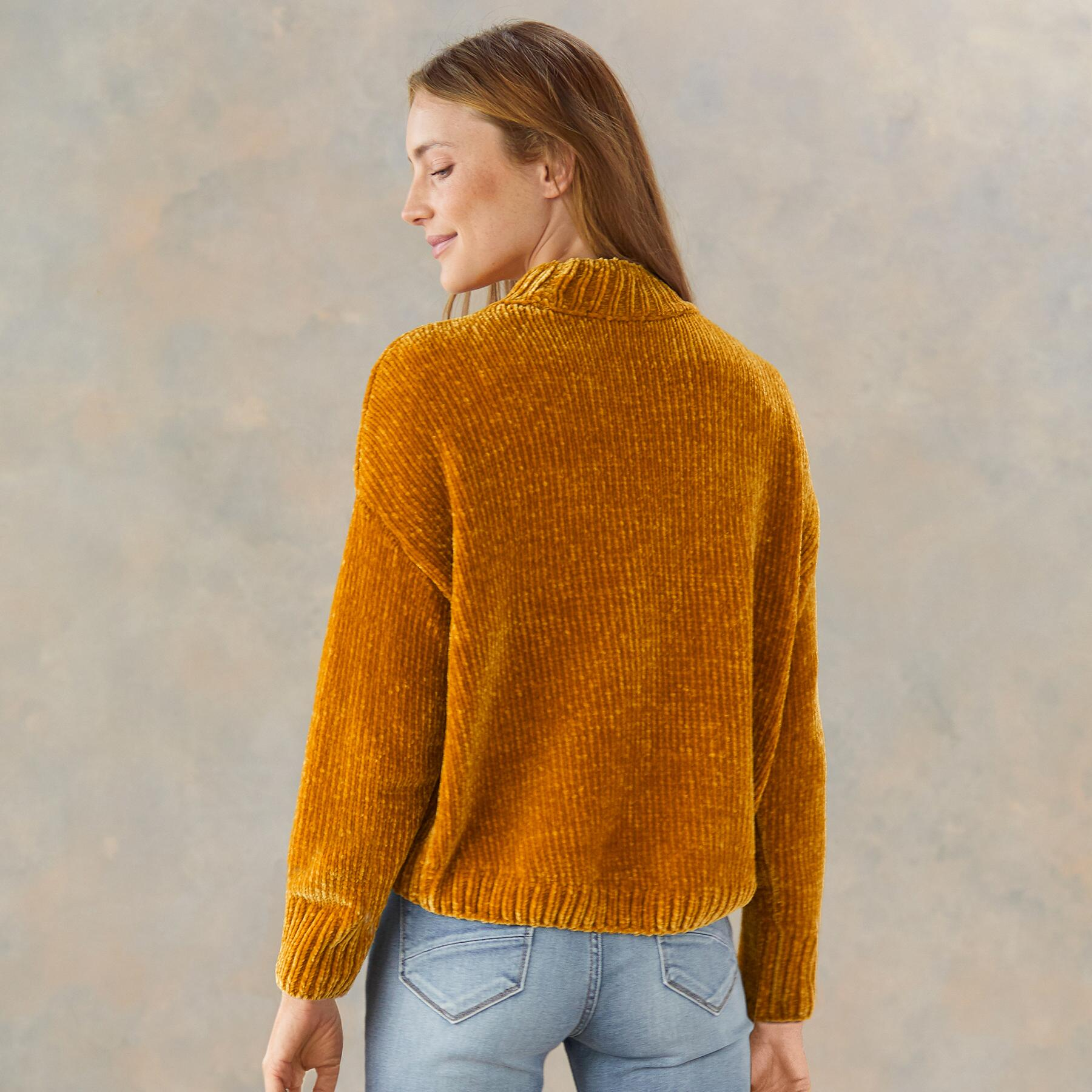CHENILLE MOCK SWEATER: View 2