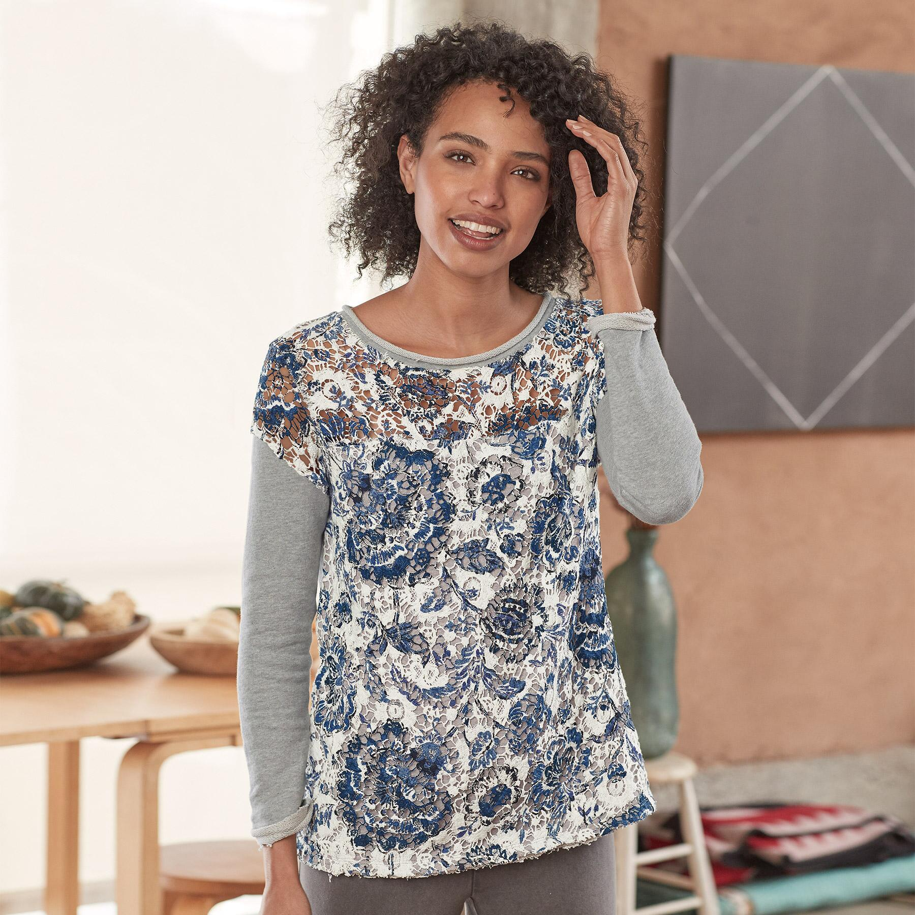 CARAWAY LACE PULLOVER: View 1