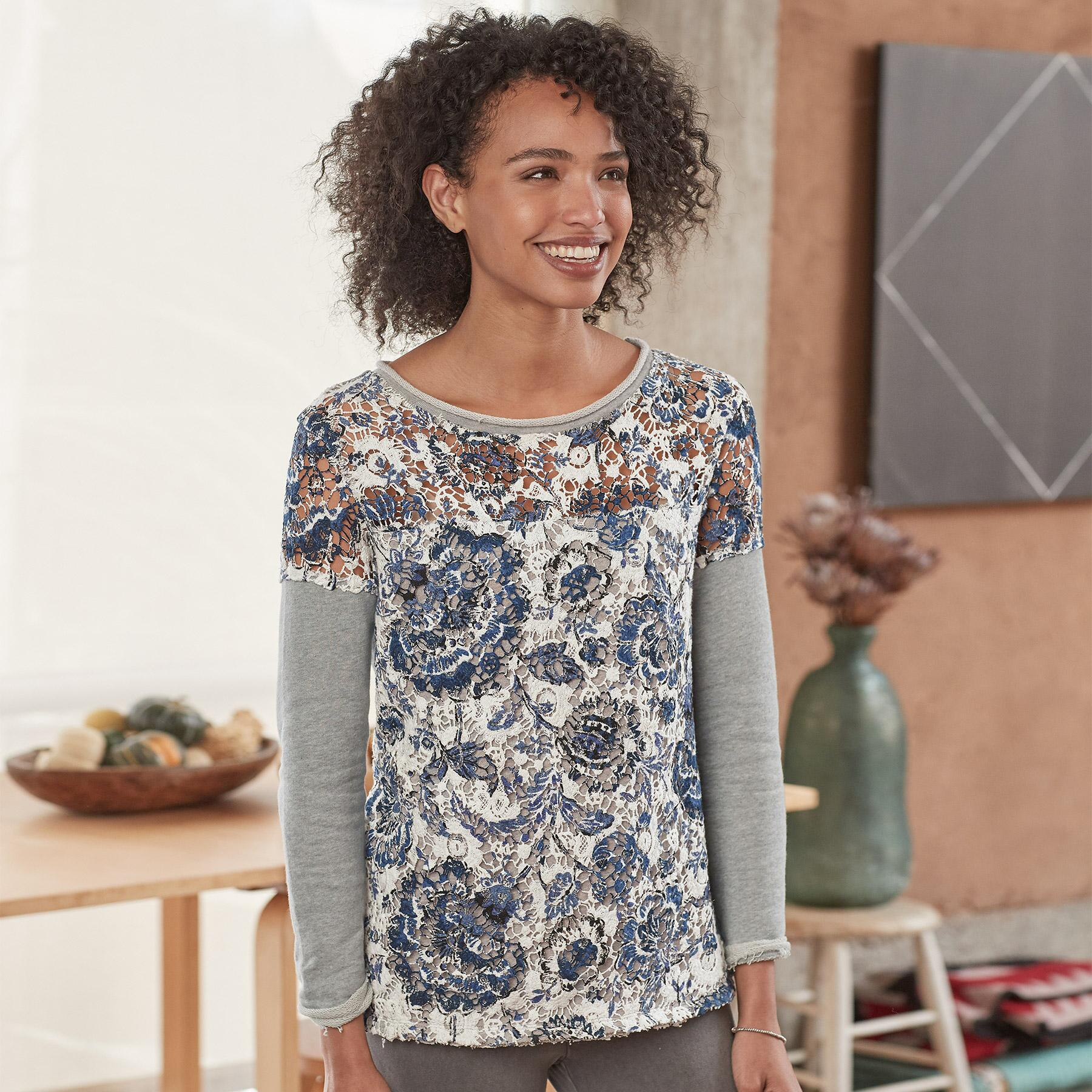 CARAWAY LACE PULLOVER: View 2