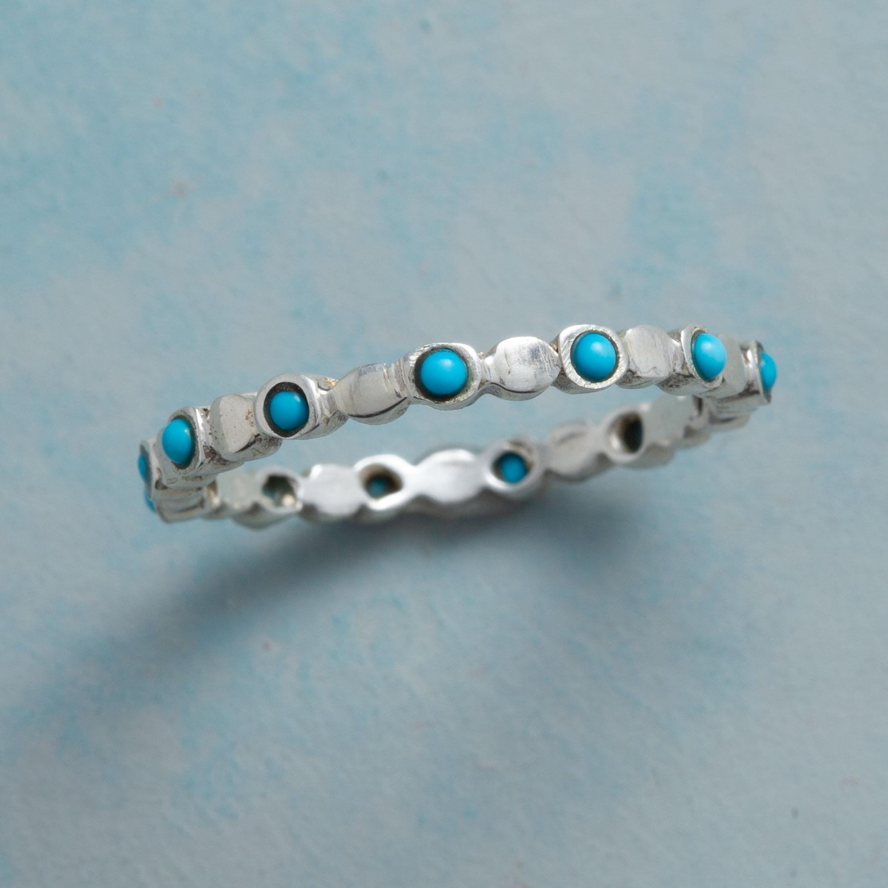 TURQUOISE ELLIPSIS RING: View 1