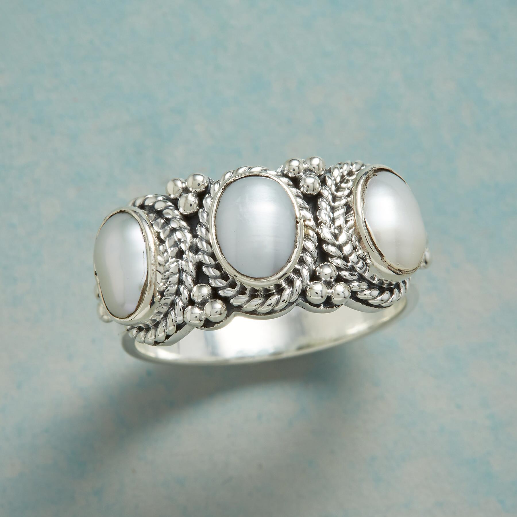 THREE OF PEARLS RING: View 1