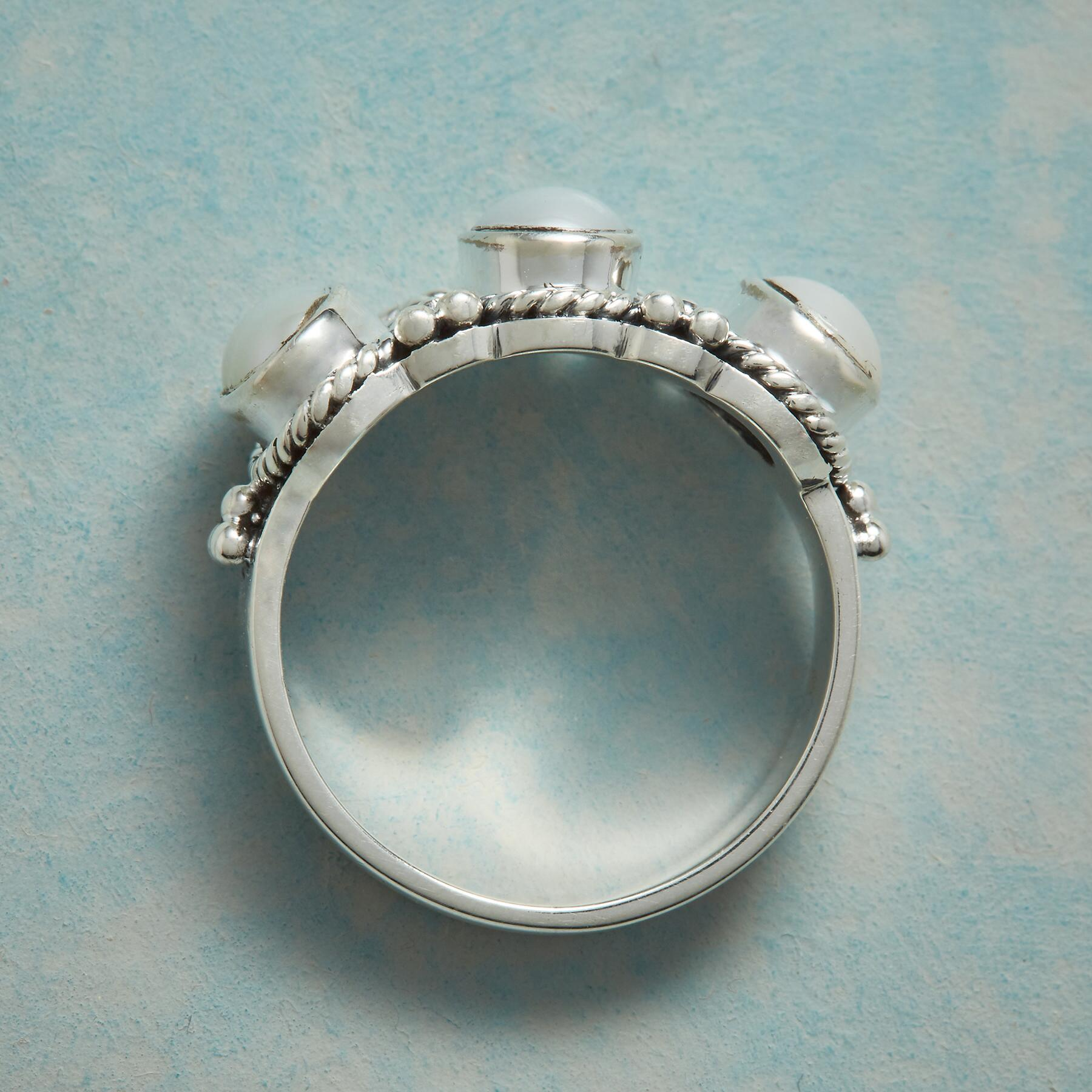 THREE OF PEARLS RING: View 2