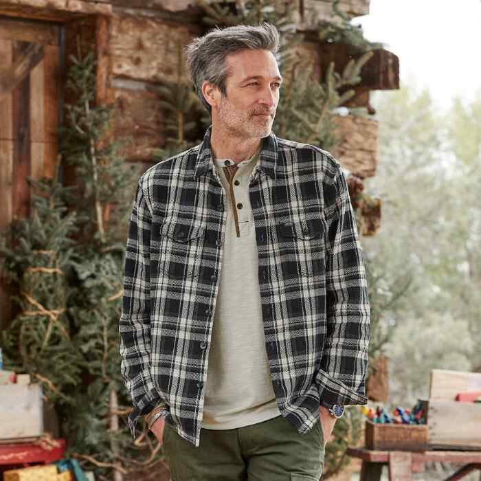 JEREMY PLAID SHIRT JACKET
