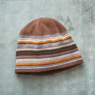 SLATE STRIPED BEANIE