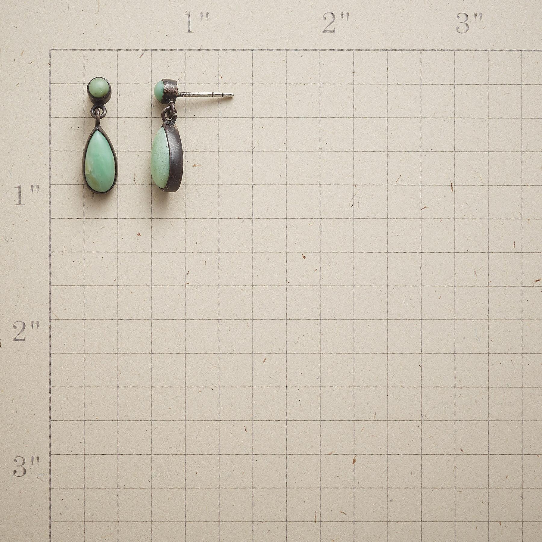 DROPLETS OF CHRYSOPRASE EARRINGS: View 2