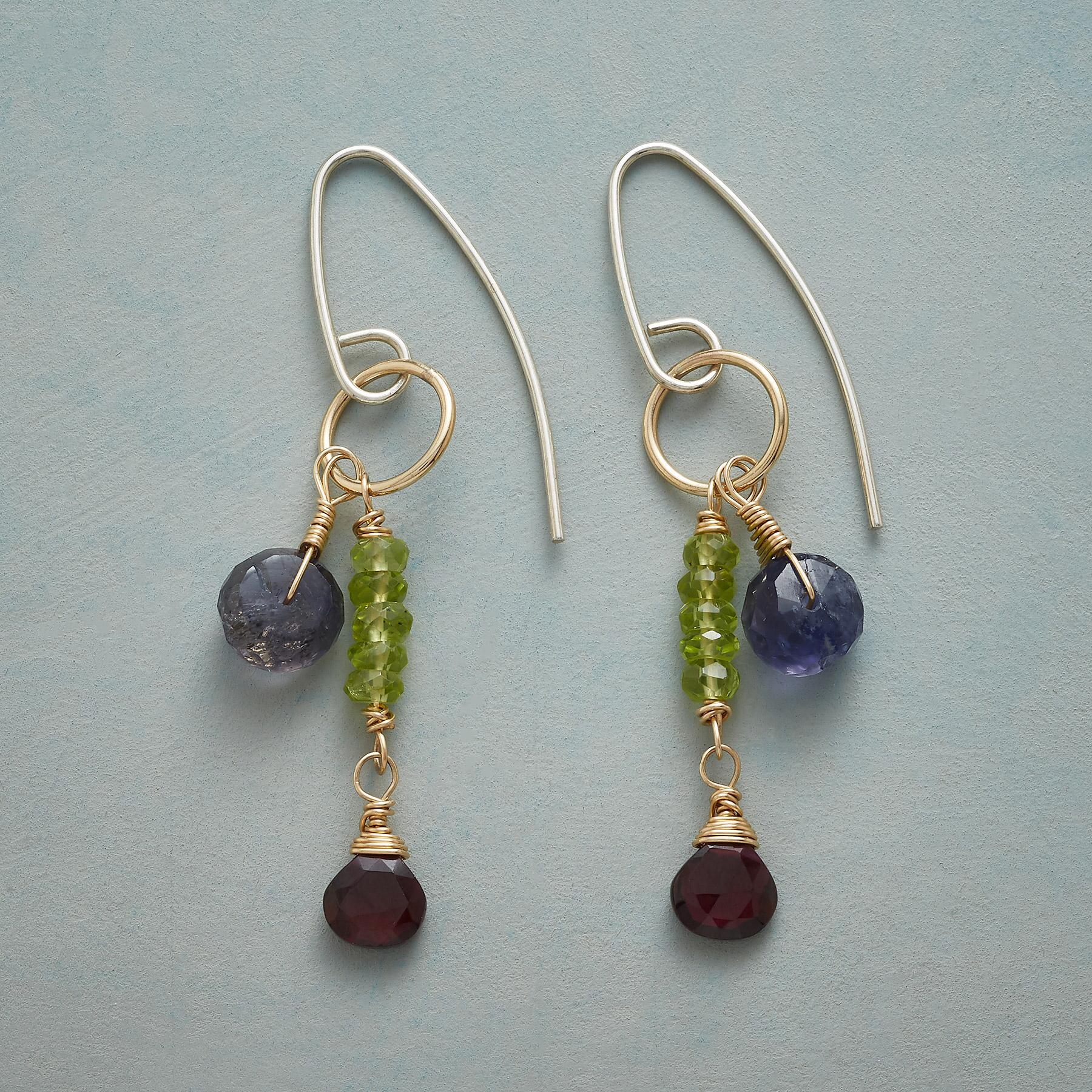 GEMSTONE DUET EARRINGS: View 1