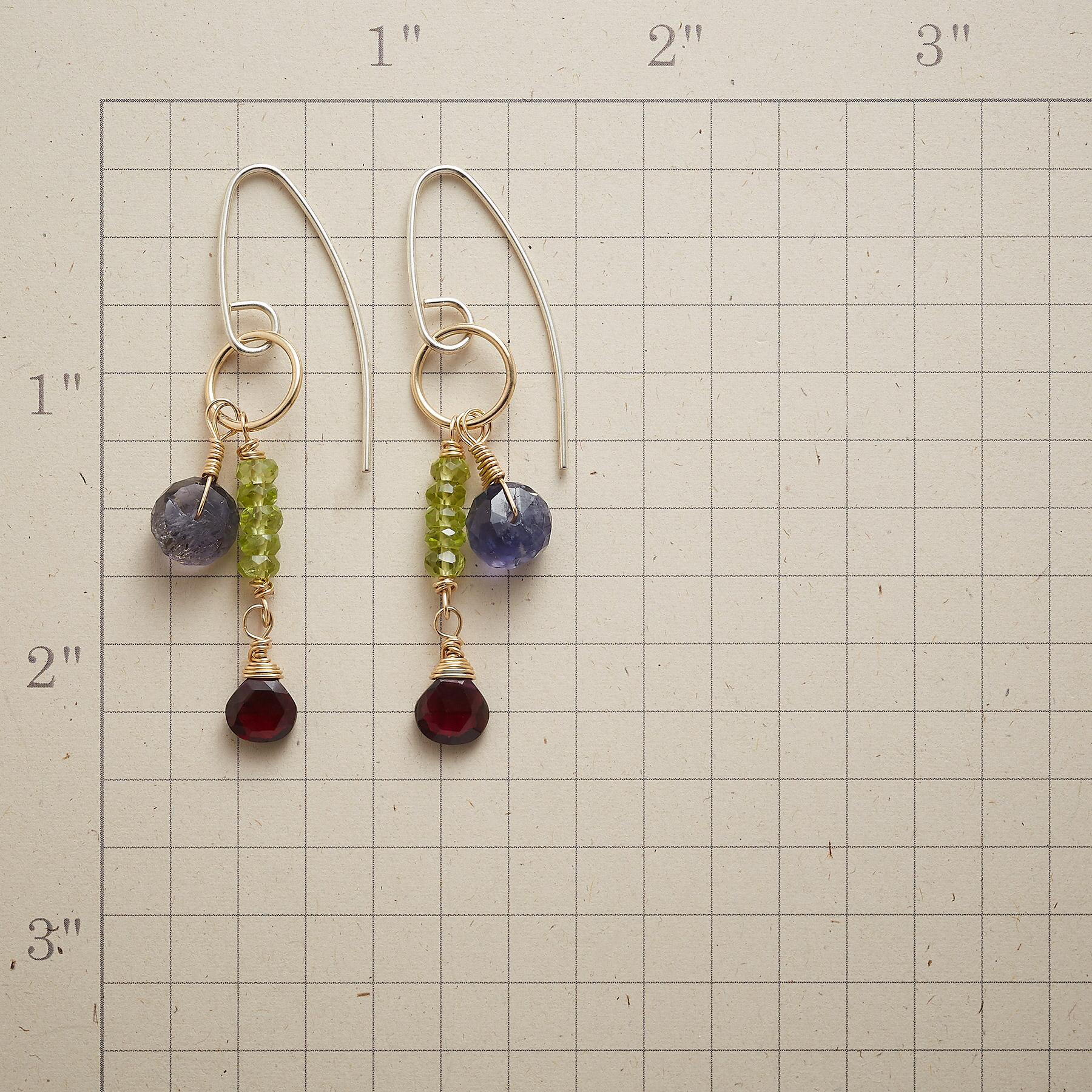 GEMSTONE DUET EARRINGS: View 2