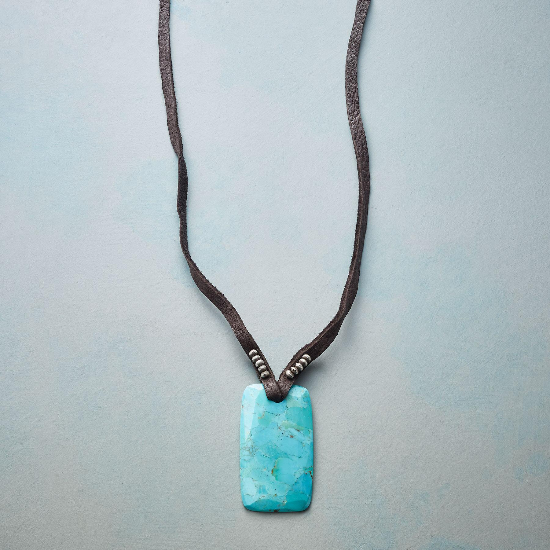 TURQUOISE AMULET NECKLACE: View 1