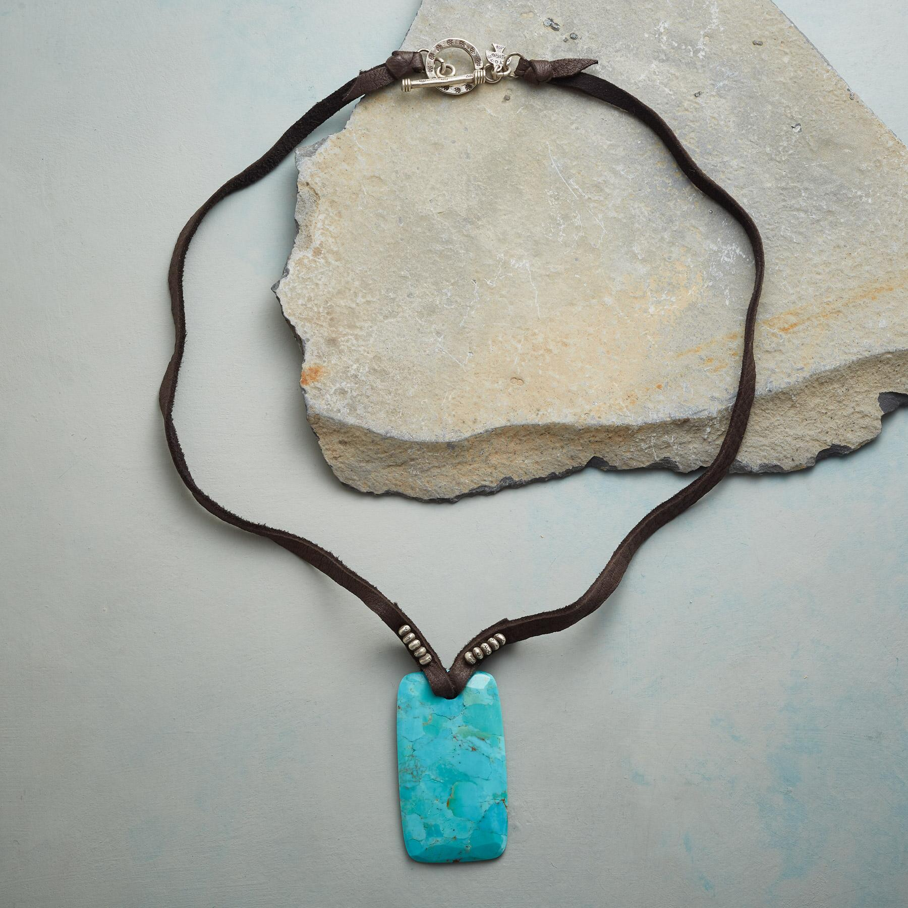 TURQUOISE AMULET NECKLACE: View 2