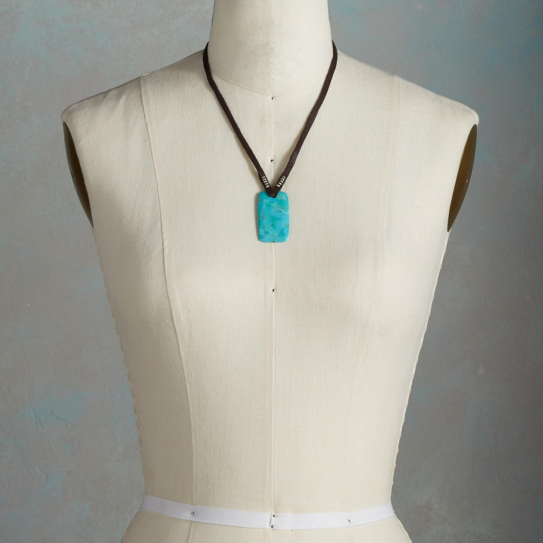 TURQUOISE AMULET NECKLACE: View 4