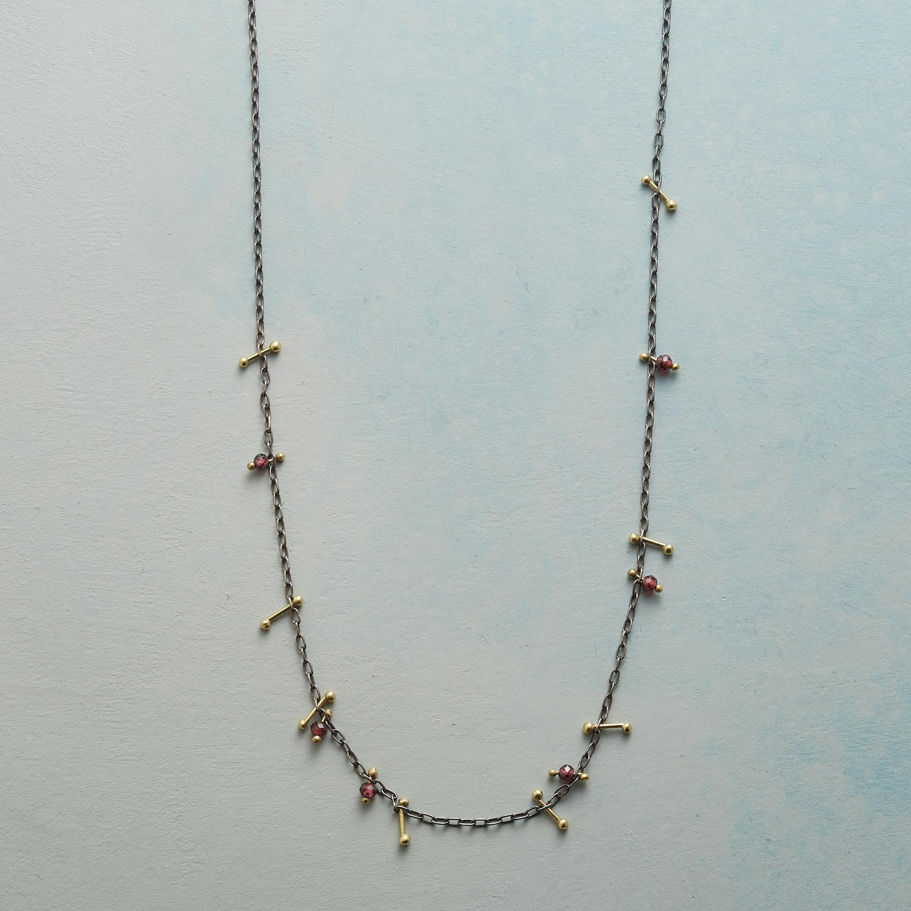 PINNED GARNET NECKLACE: View 1
