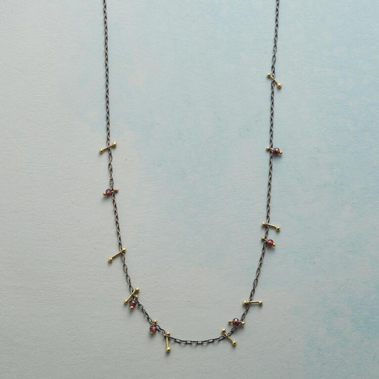 PINNED GARNET NECKLACE