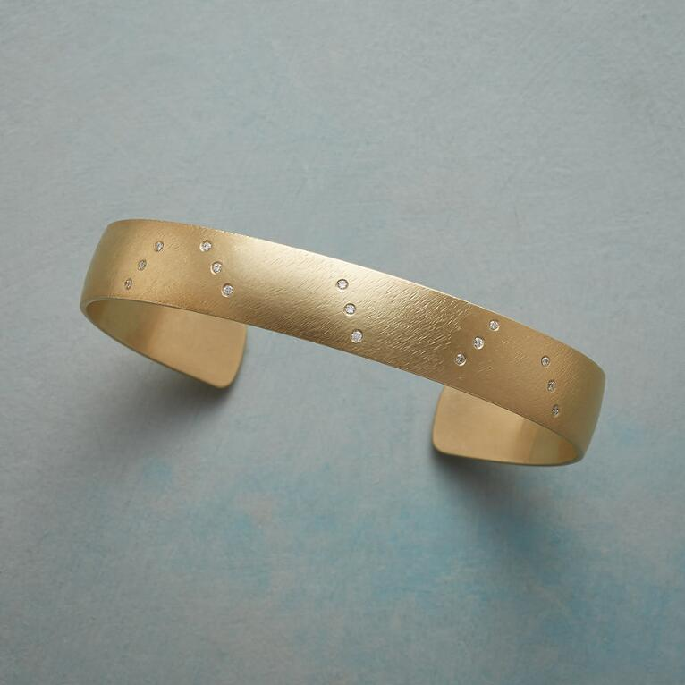 SCATTERED DIAMOND CUFF BRACELET