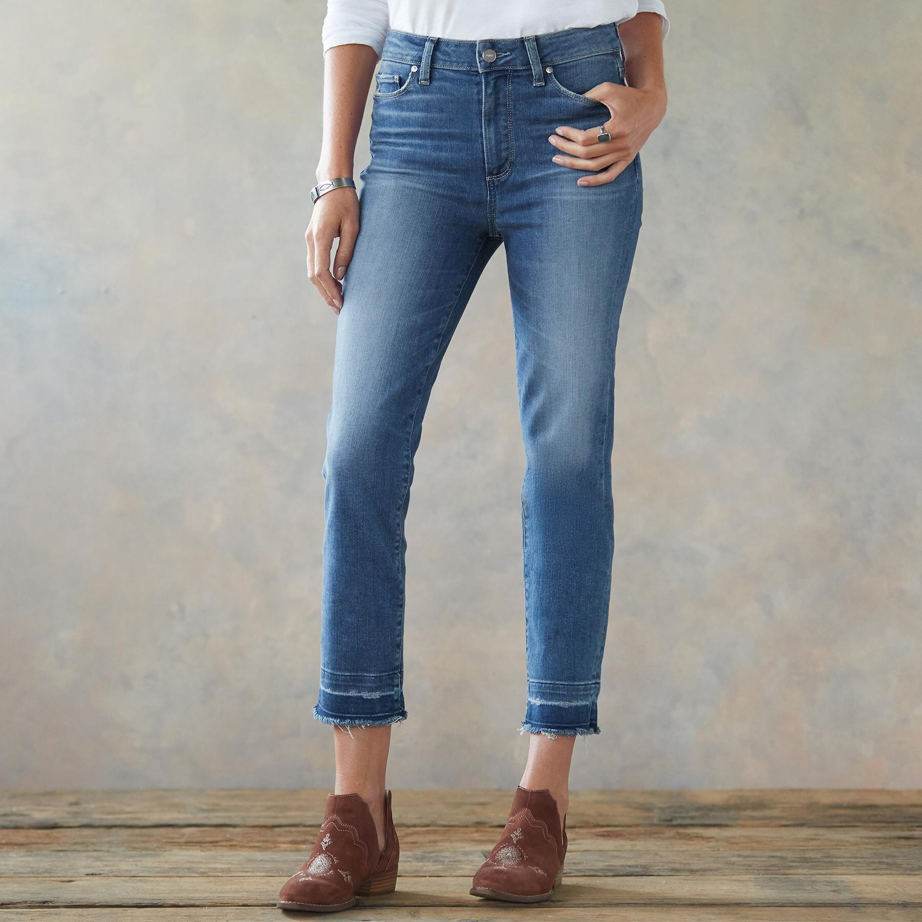 HOXTON SLIM CROPPED JEANS: View 1