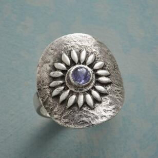 TANZANITE SUNFLOWER RING