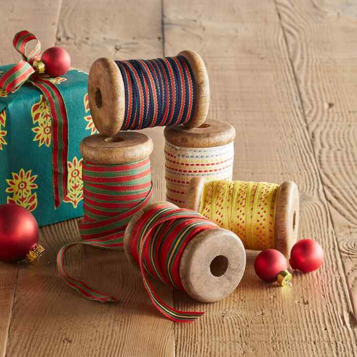 JOY OF THE SEASON RIBBONS, SET OF 5