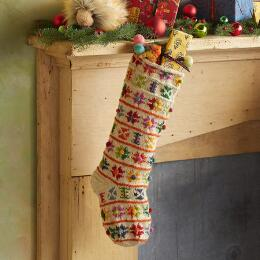 HEIRLOOM NORDIC POMPOM STOCKING