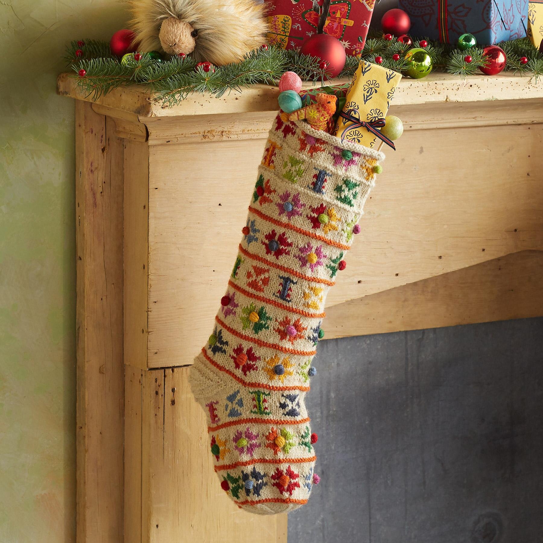HEIRLOOM NORDIC POMPOM STOCKING: View 1