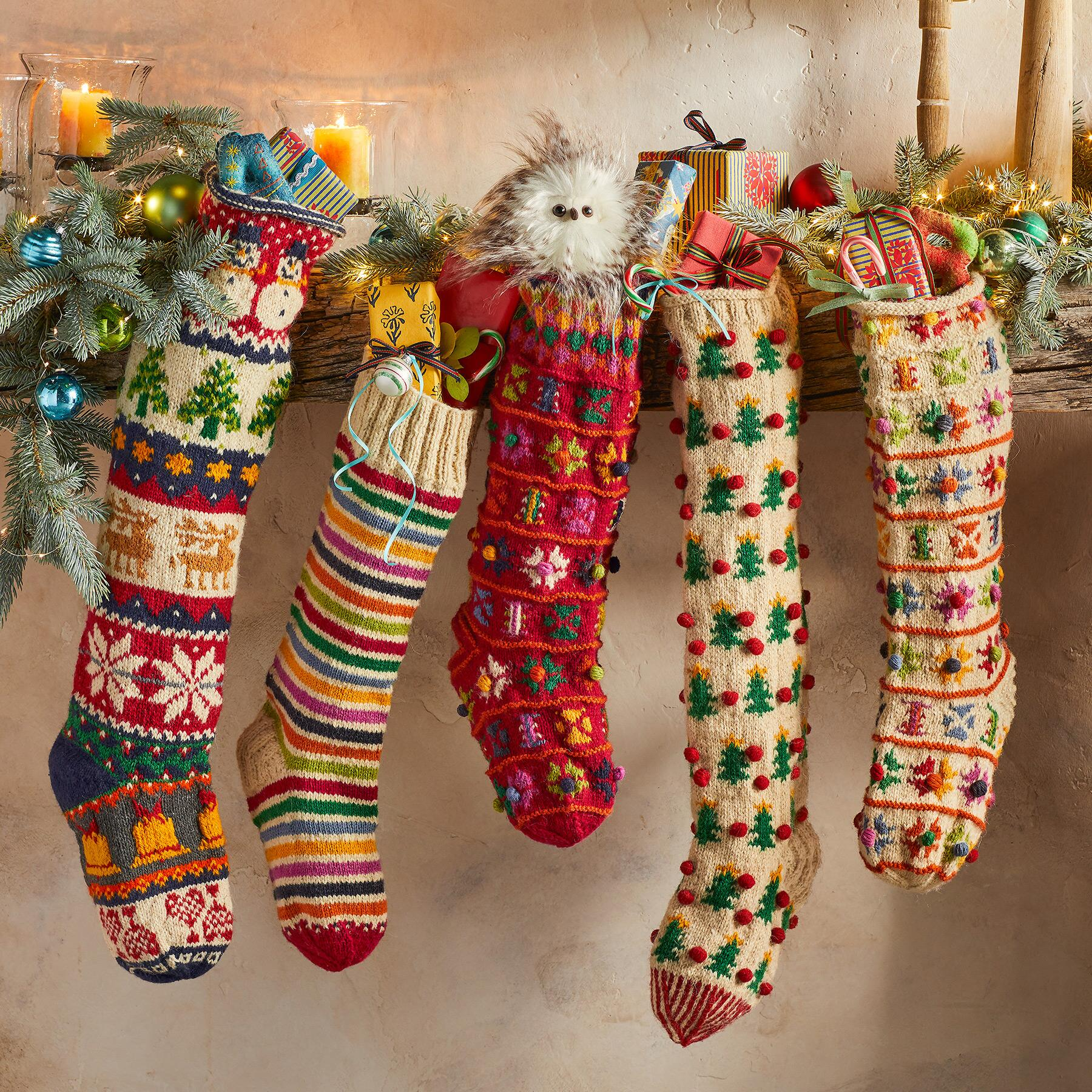 HEIRLOOM NORDIC POMPOM STOCKING: View 2