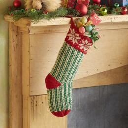 HEIRLOOM HOLIDAY CHEER STOCKING
