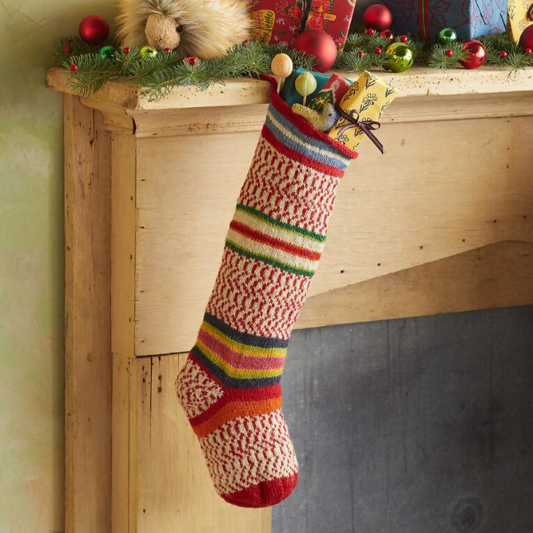 HEIRLOOM SEASONAL STRIPES STOCKING
