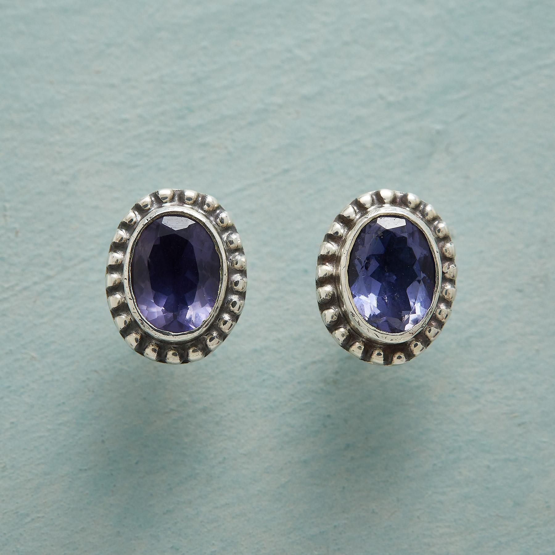 IOLITE PORTRAIT EARRINGS: View 1