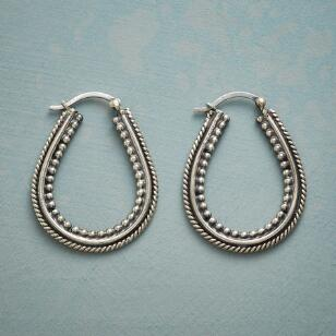 THREE LANE HOOP EARRINGS