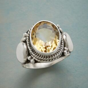 CITRINE ON THE SPOT RING