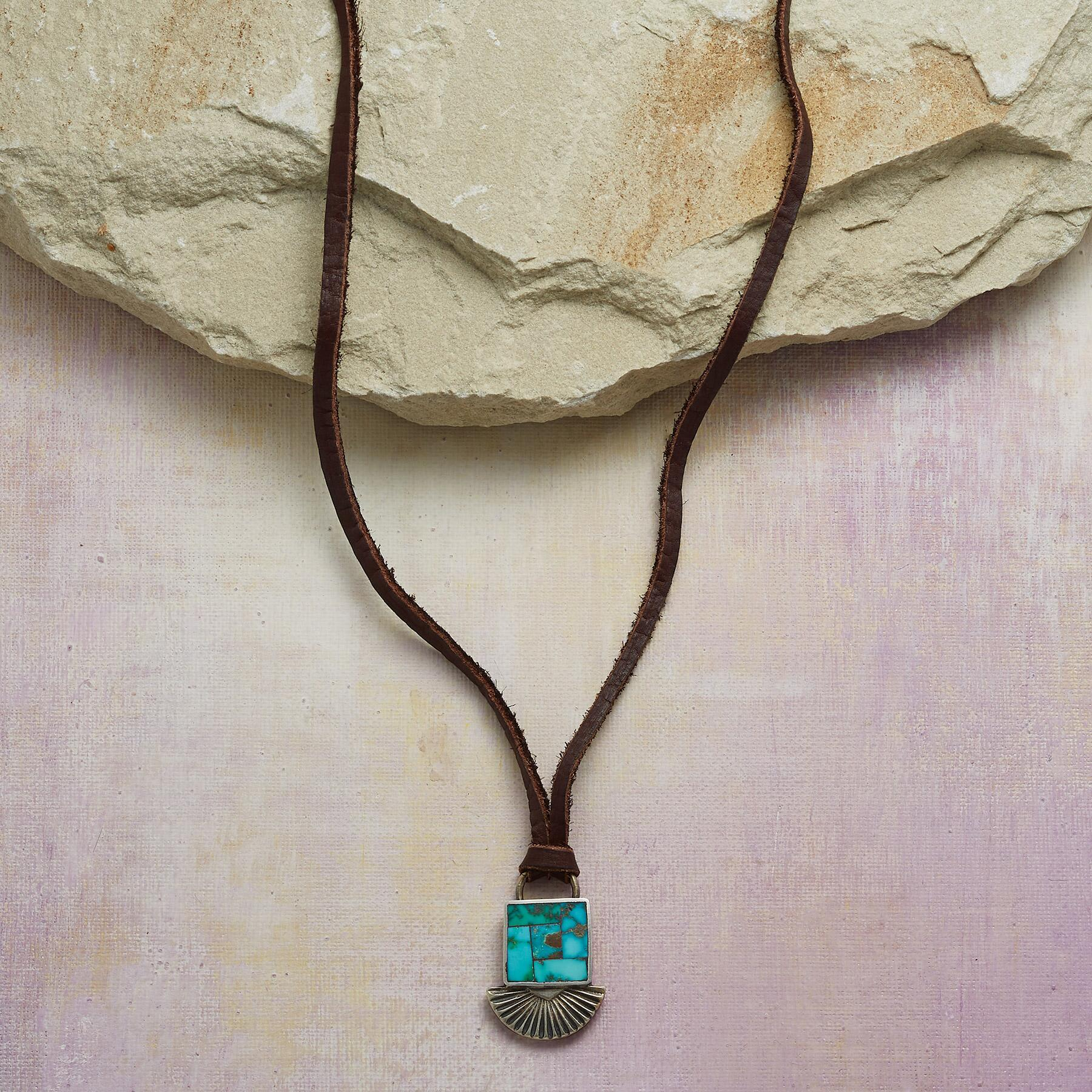 INLAID TURQUOISE NECKLACE: View 1