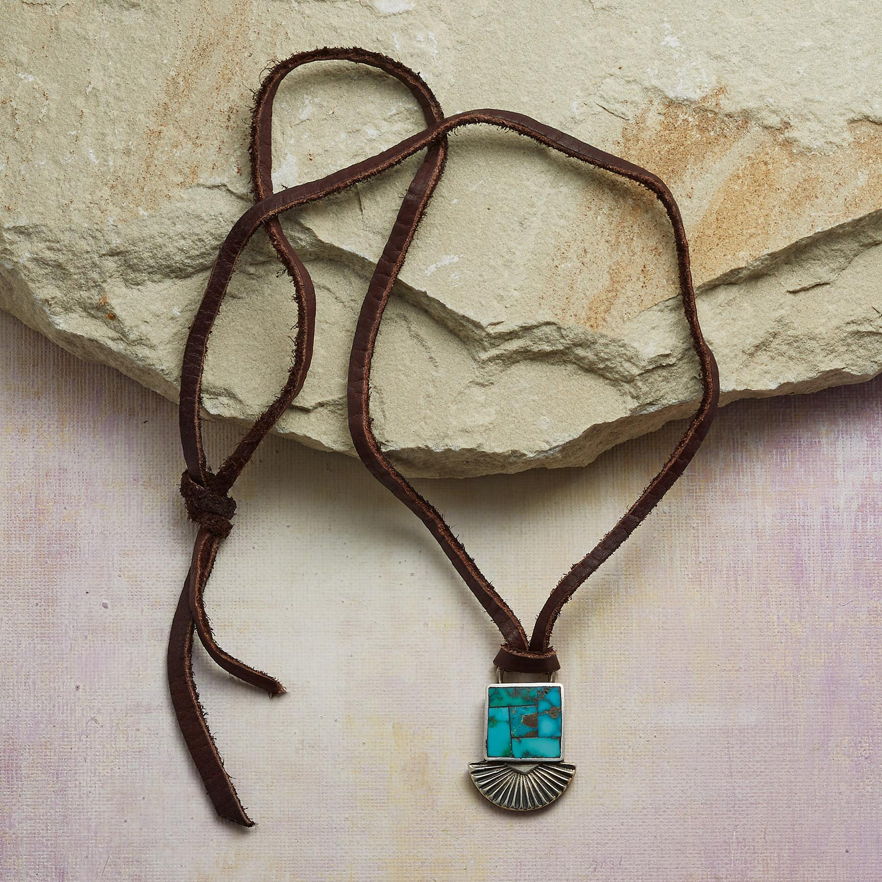 INLAID TURQUOISE NECKLACE: View 2