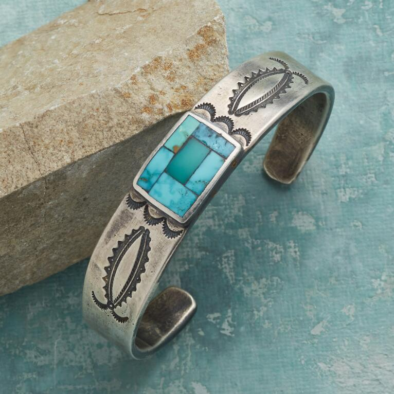 TURQUOISE TILES CUFF