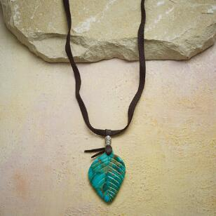 FALLEN LEAF TURQUOISE NECKLACE