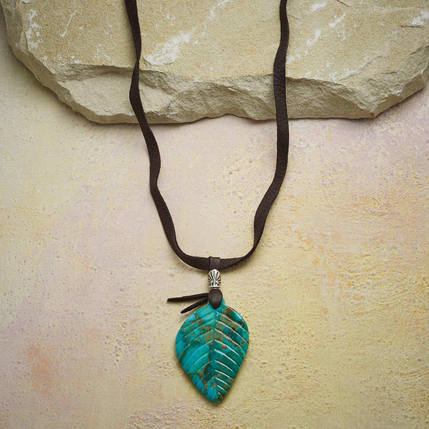FALLEN LEAF TURQUOISE NECKLACE: View 1