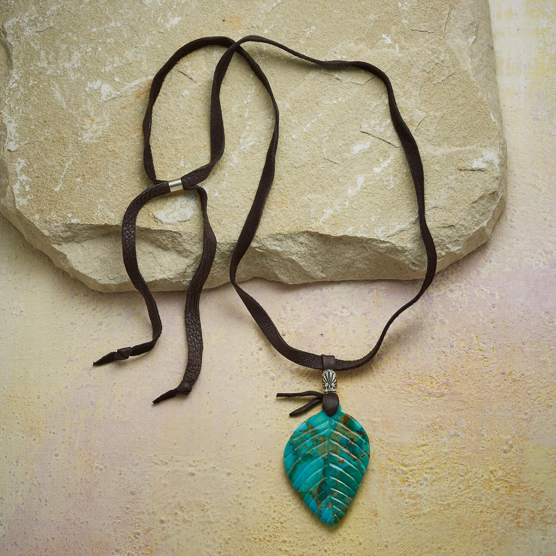 FALLEN LEAF TURQUOISE NECKLACE: View 2