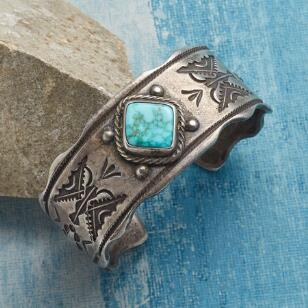 BUFFALO FRAMED TURQUOISE CUFF