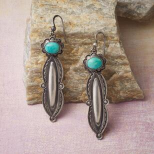 TURQUOISE TENDRIL EARRINGS