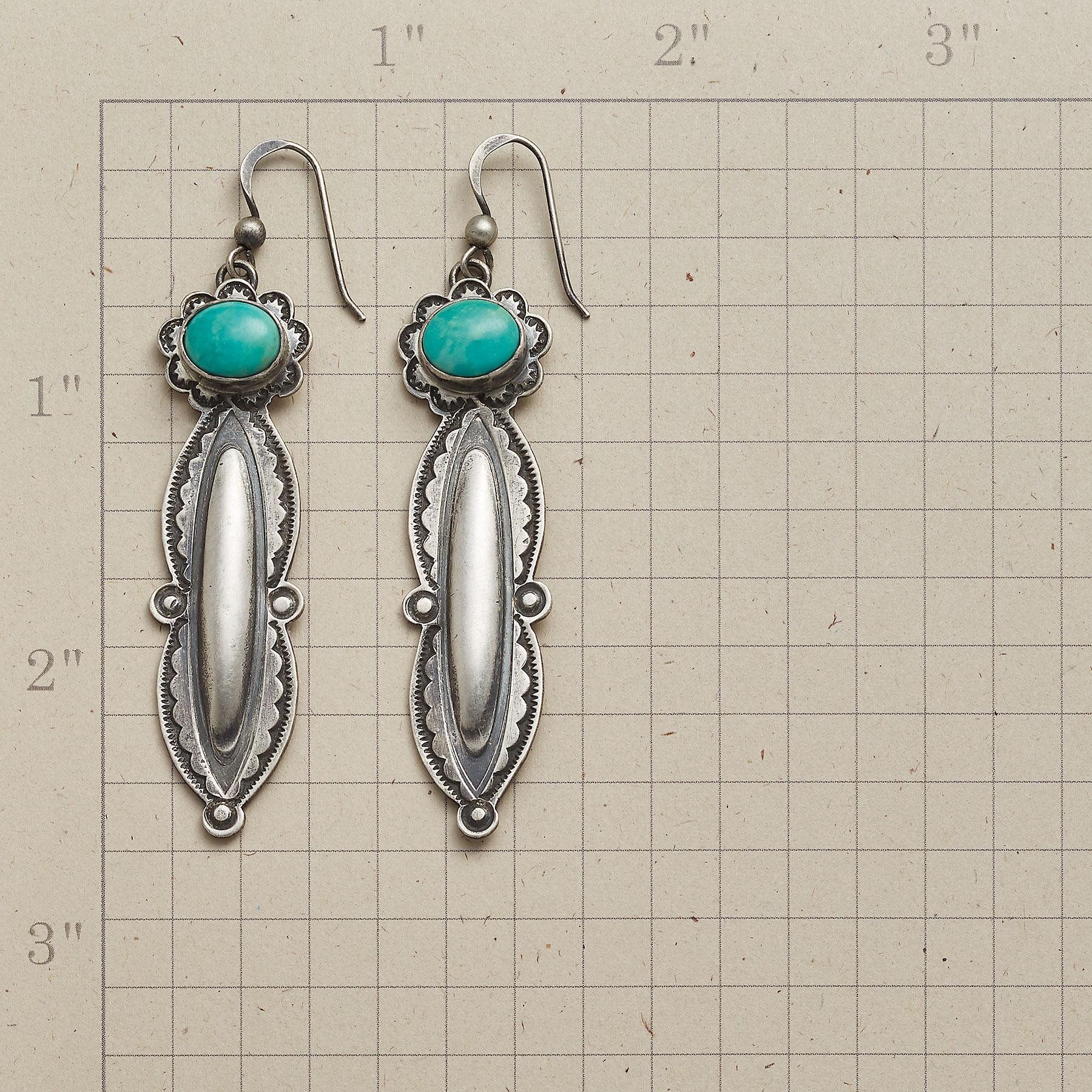 TURQUOISE TENDRIL EARRINGS: View 2