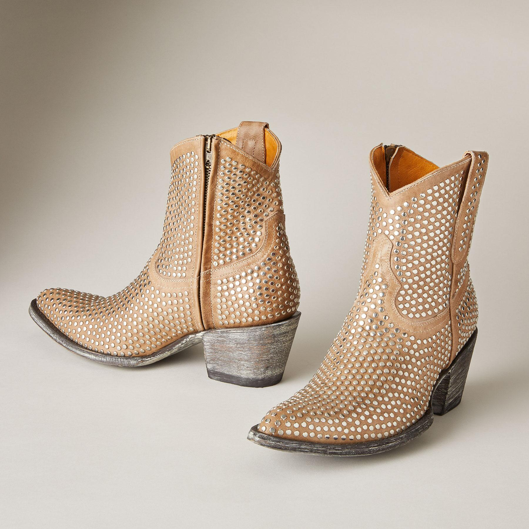BONE STUDDED BOOTS: View 2