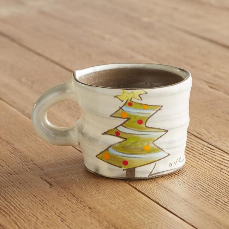 A CUP OF SENTIMENT CHRISTMAS TREE MUG