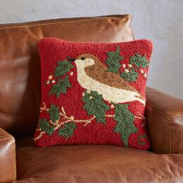 HOLIDAY BIRD PILLOW