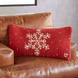 HOLIDAY SNOWFLAKE BOLSTER