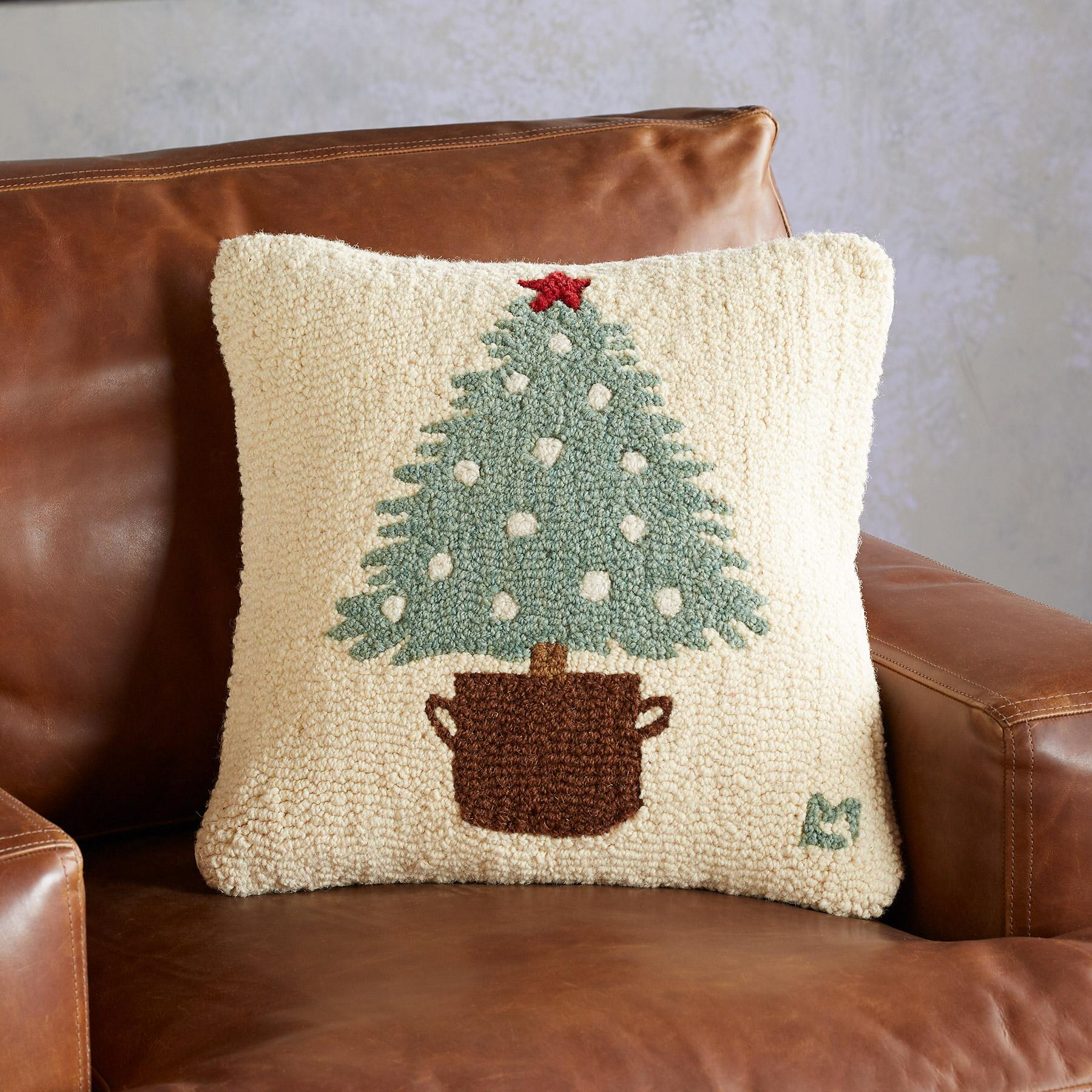 O Christmas tree embroidered pillow  - Sundance Catalog Home Decor + A Few of My Artisan Favorite Things!