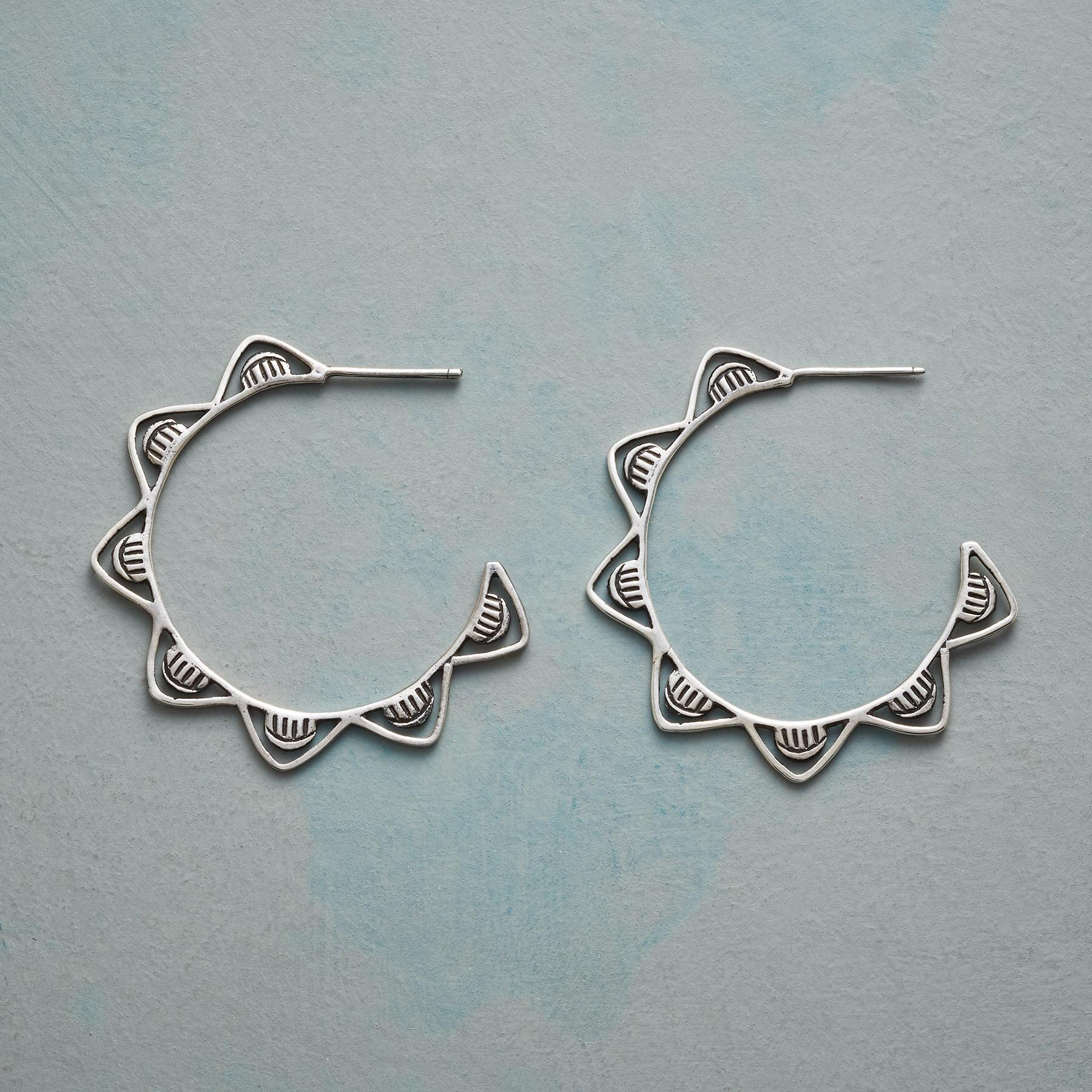 WHITE CAPS HOOP EARRINGS: View 1